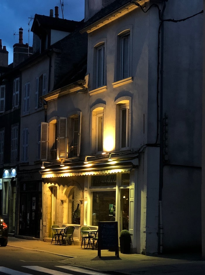 beaune in the evening on the MFCH Burgundy Tour