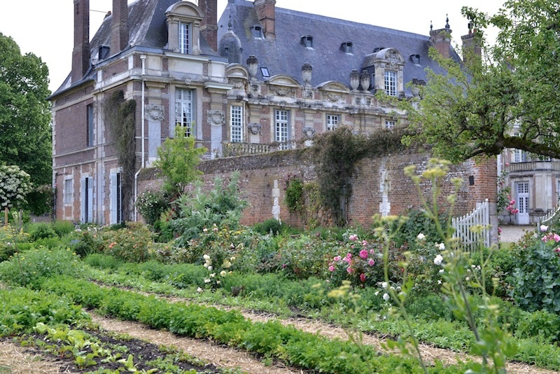 Chateau Miromesnil and the potager