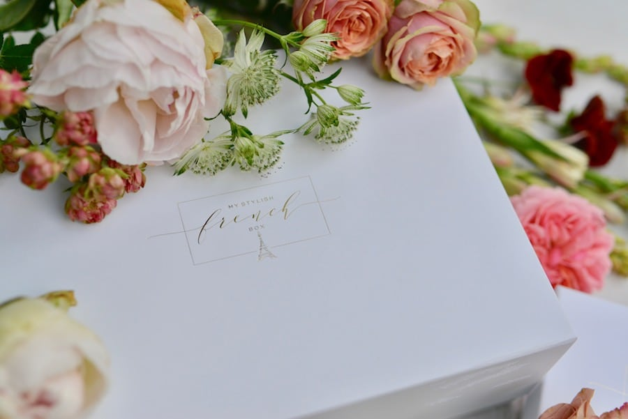my stylish french box with summer flowers