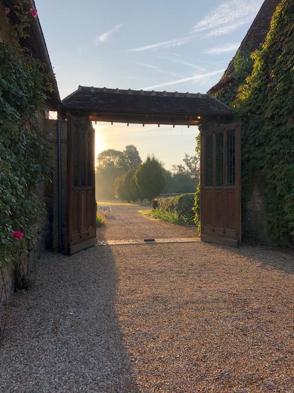 The entrance to Domaine des Evis