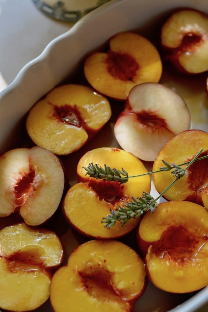 A baked peach recipe by My French Country Home