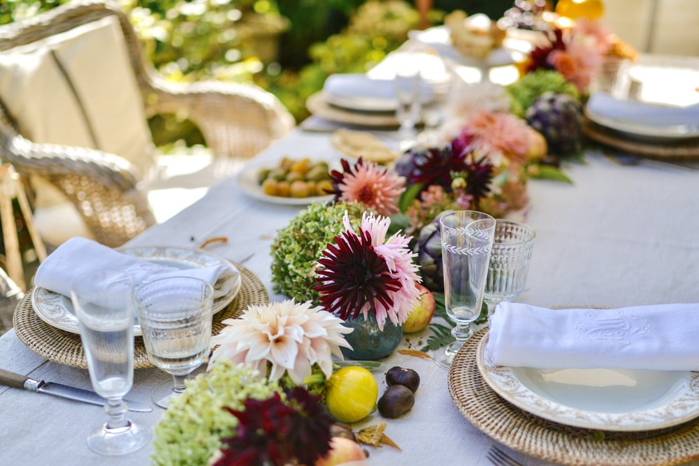 autumn flowers for a fall table- MY FRENCH COUNTRY HOME
