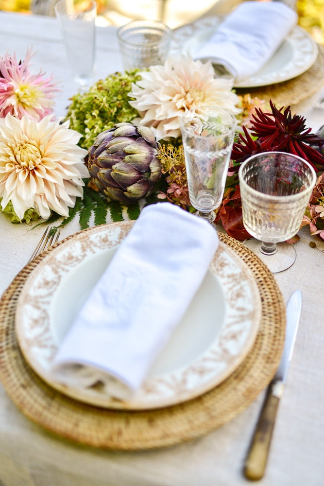 place setting at a fall table- MY FRENCH COUNTRY HOME
