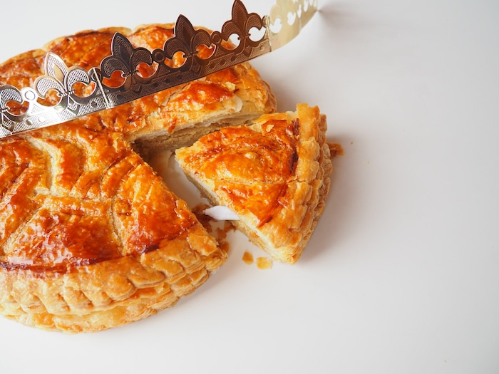 traditional french new year's pastry galette des rois