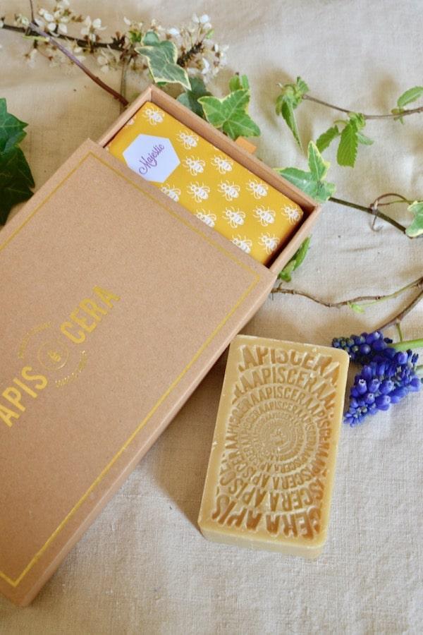 organic soap in beautiful presentation box