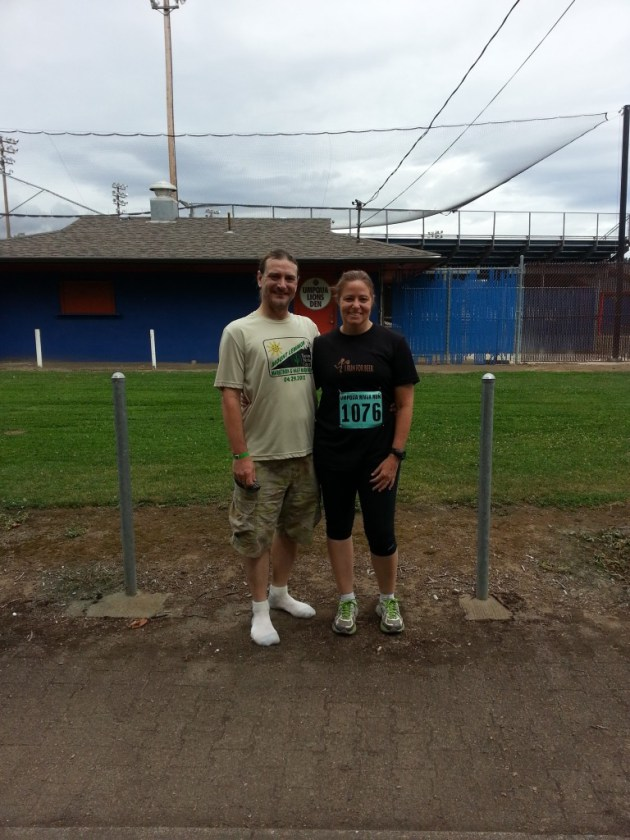 Sharon and Tim after the run.