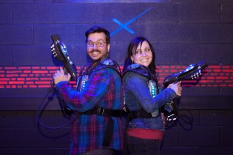 Laser Tag / Arcade Engagement Session - Toronto Wedding Photographer