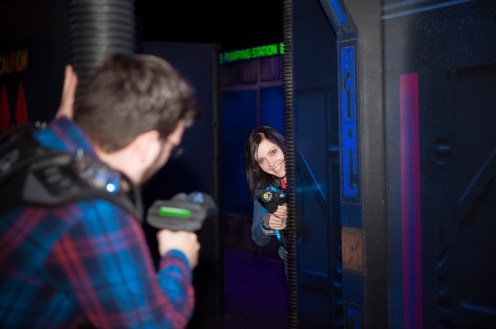 Arcade Laser Tag Engagement Session - Toronto Wedding Photographer