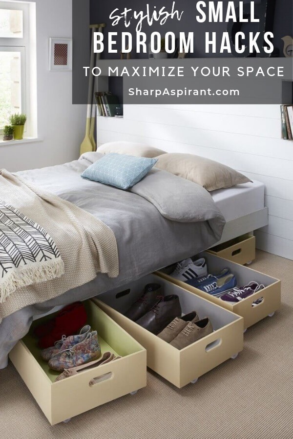 Small Bedroom Organization Ideas That Are Smart and Stylish - Sharp ...