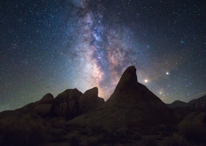 Unique compositions under the stars at Alabama Hills.