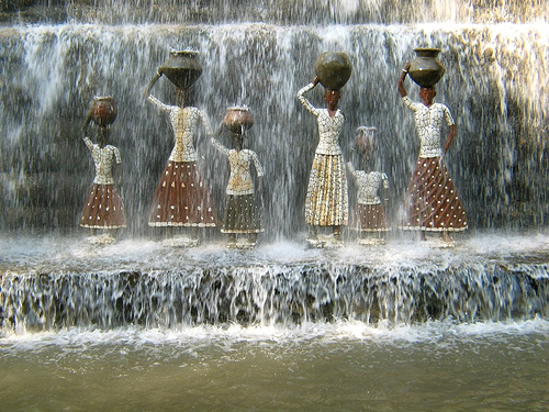 Art using recycled materials  by Nek Chand. Image source: www.sharpexblog.com