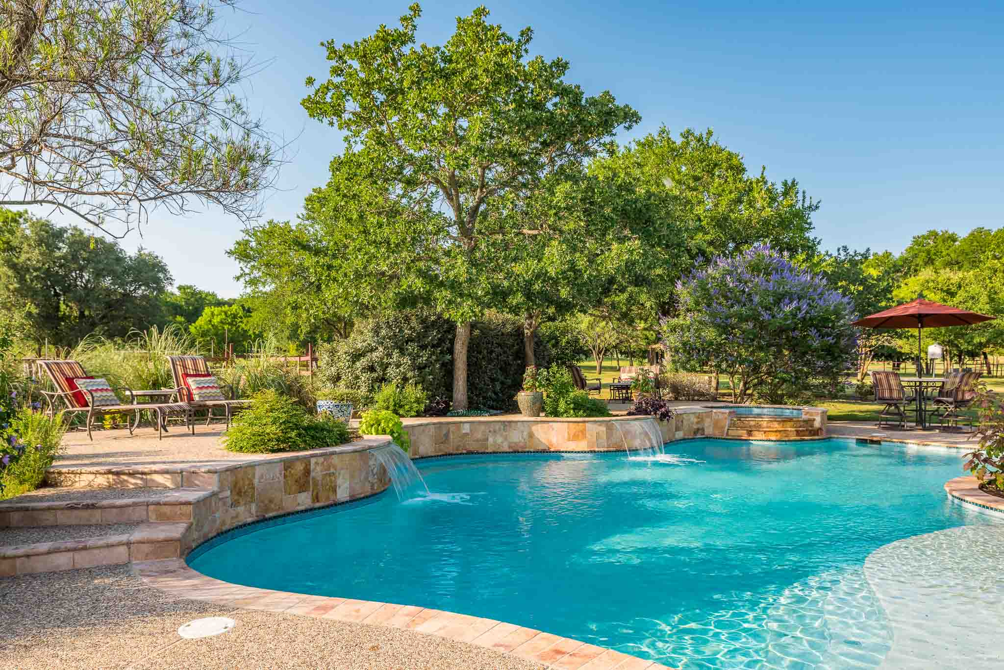 Pool paradise in home for sale in Fort Worth
