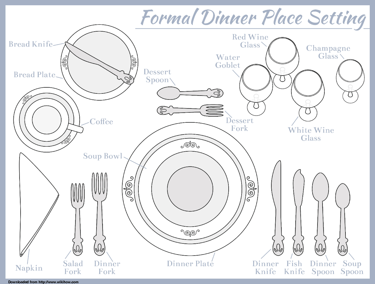 Proper Way To Set Table Loris Decoration  sc 1 st  Modern Kitchen Table Sets & Marvelous Right Way To Set A Table Ideas - Best Image Engine ...