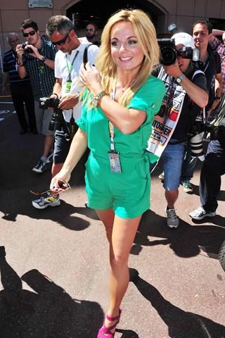Geri Halliwell Monaco grand prix 2011