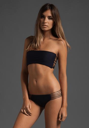 mikoh rihanna bikini black