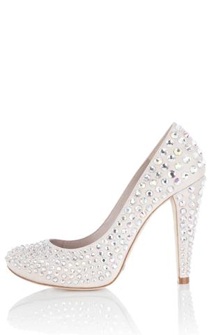 karen millen crystal shoe round toe