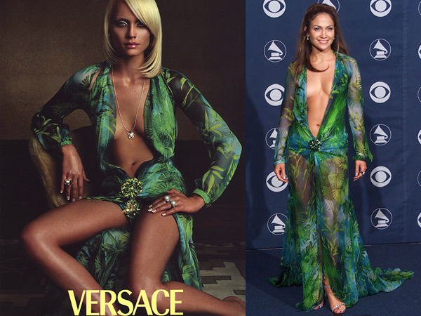 jennifer lopez versace green dress