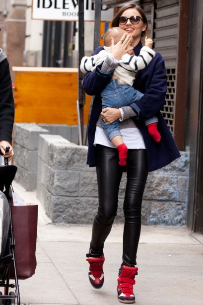 miranda kerr isabel marant red trainers