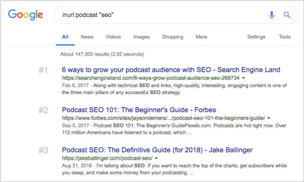 google prospecting for podcast