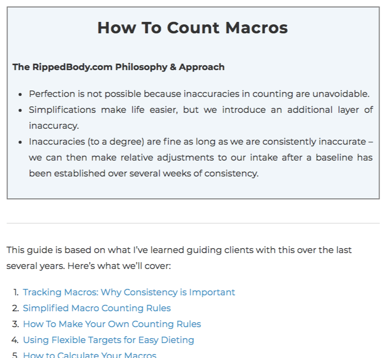 macro counting personal training