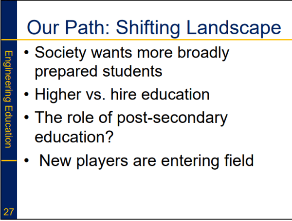 Dr. Greg Evans - Our Path as Educators and Shifting Landscape