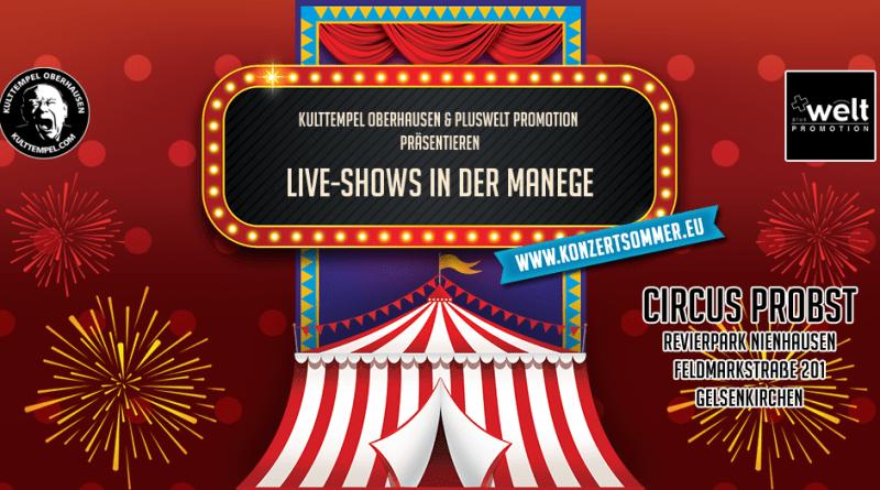 """Ankündigung: """"Konzertsommer im Revier"""" – zahlreiche Elektro-Konzerte im Zirkuszelt"""