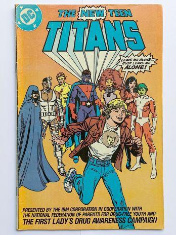 DC Comics the New Teen Titans, Drug Free Youth 1983 Comic Book, Nancy Reagan