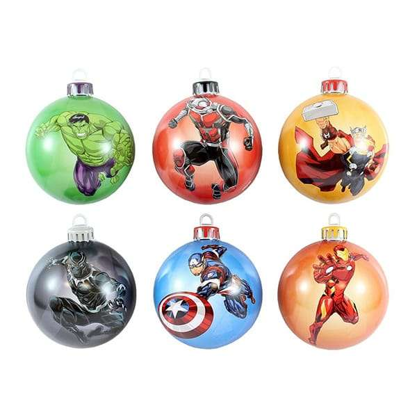 Best The Avengers Bauble Christmas Tree Ornament Pack Numskull This Month