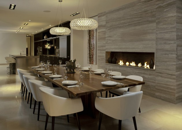Best 14 Sophisticated Dining Rooms With Beautiful Fireplace This Month