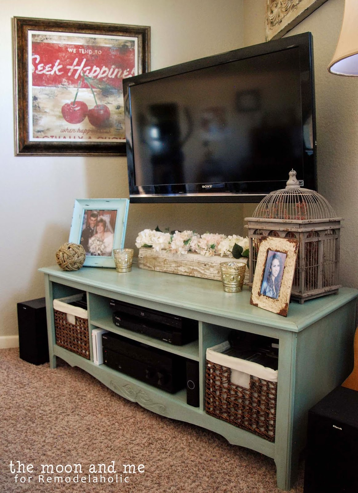 Best Remodelaholic Turn An Entertainment Center Into A Tv This Month