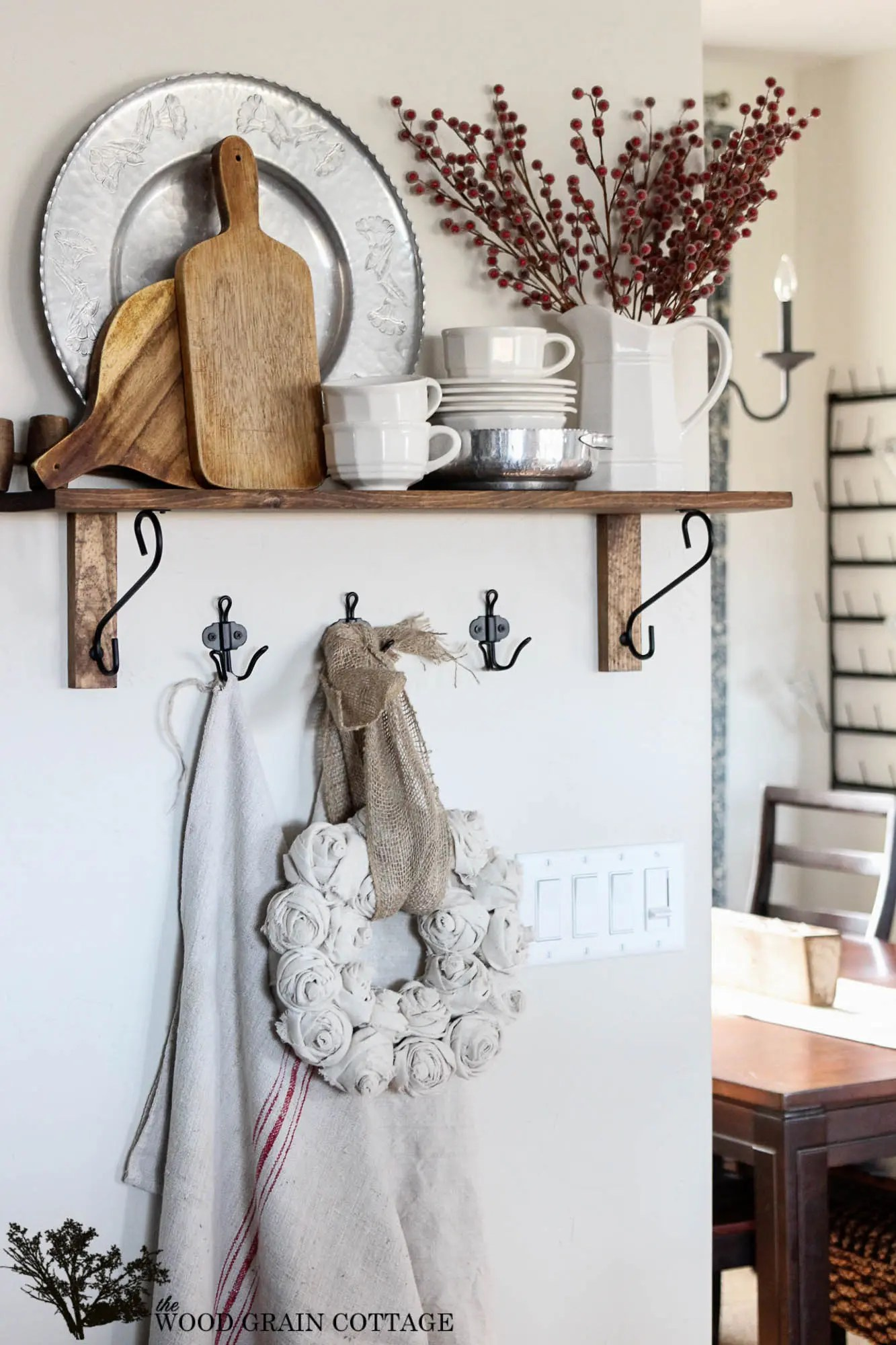 Best Christmas Kitchen Shelf The Wood Grain Cottage This Month
