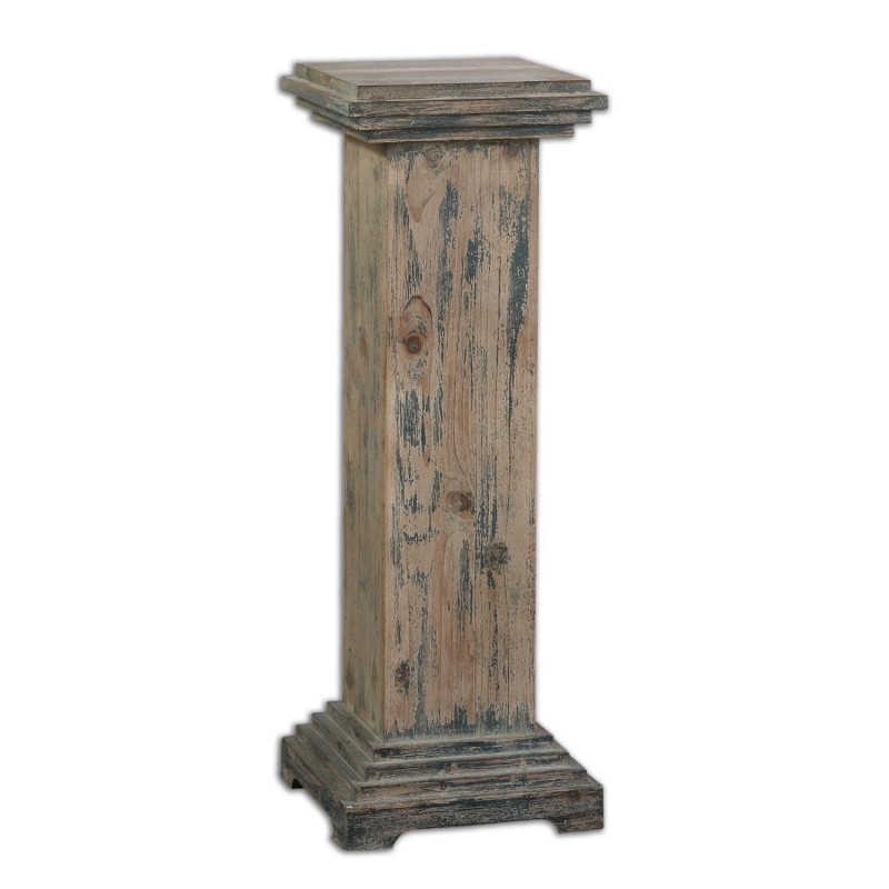 Best Uttermost 24352 Alejo Aged Wood Pedestal Districtdecor This Month