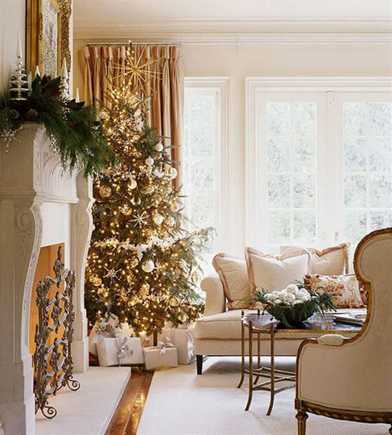 Best 60 Elegant Christmas Country Living Room Decor Ideas This Month