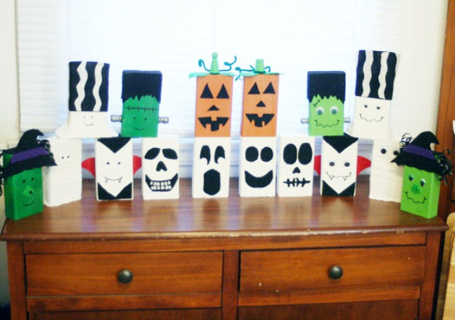 Best Diy Decor Halloween Block Heads For A Kids' Room Kidsomania This Month