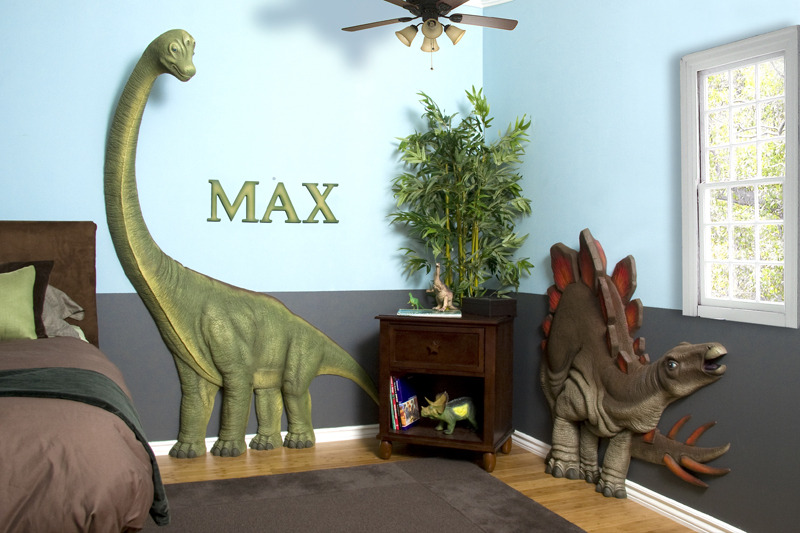 Best Kids Bedrooms With Dinosaur Themed Wall Art And Murals This Month
