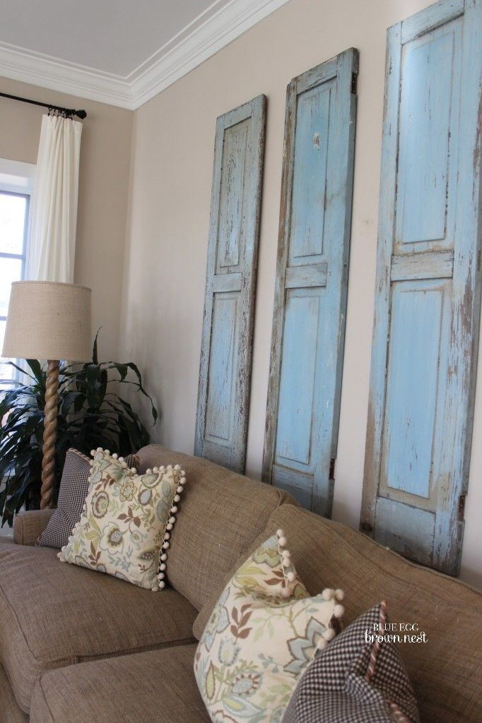 Best 7 Inspiring Ways To Use Vintage Shutters On Your Walls This Month