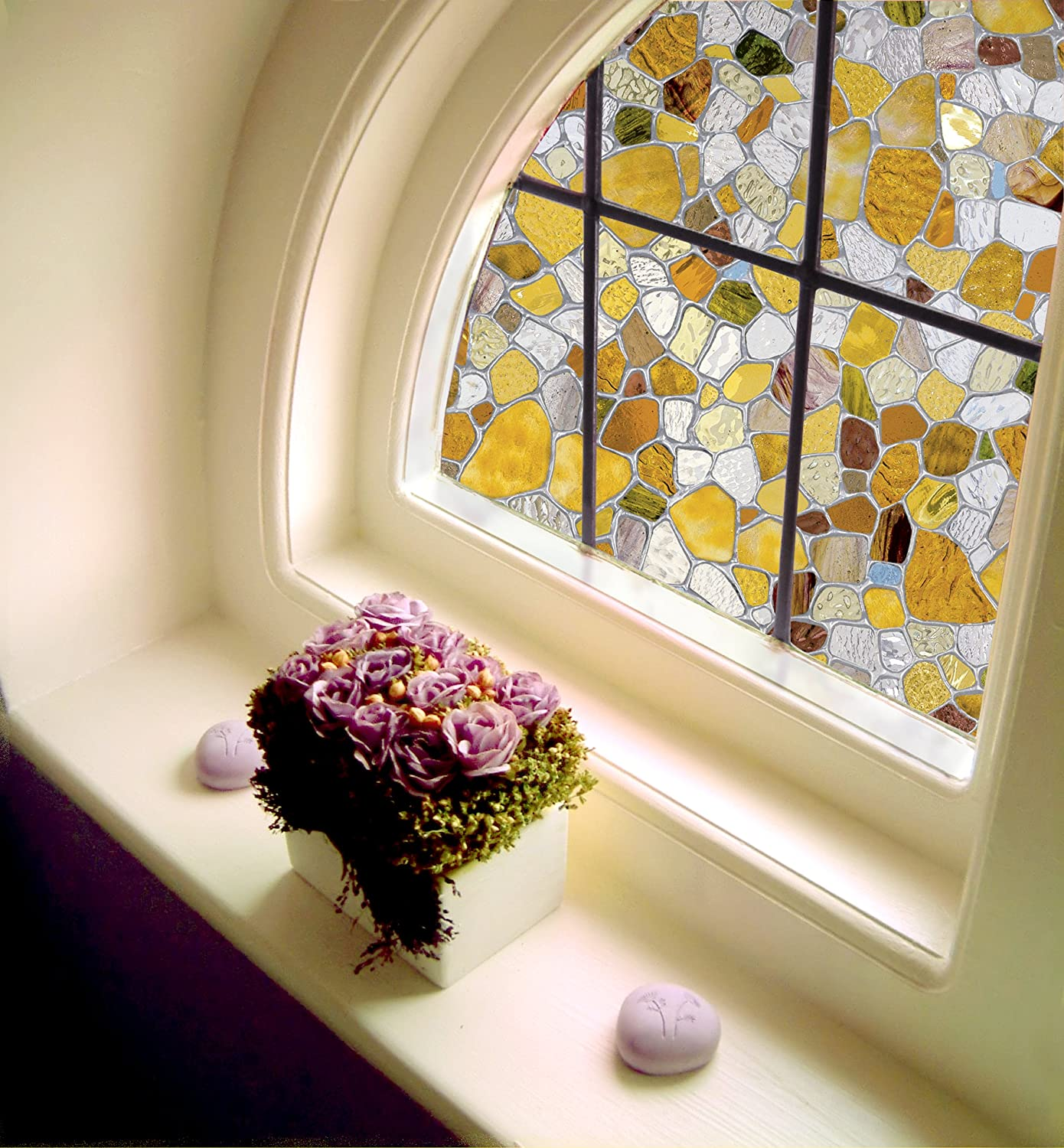 Best First Stained Glass Window Film 24 By 36 Inches New This Month