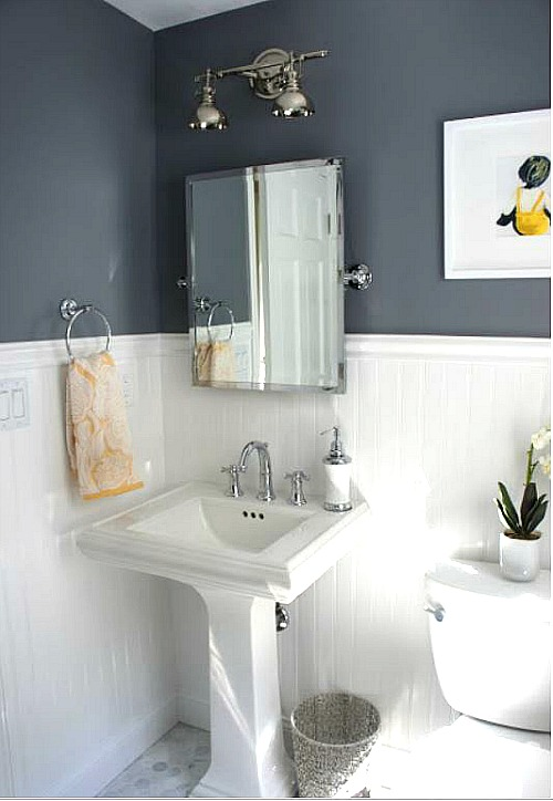Best Before After Updating A Half Bath Laundry Room This Month