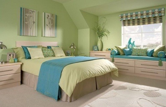 Best Green Bedroom With Blue Accent Home Interiors This Month