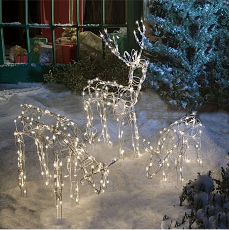 Best Animated Lighted Reindeer Family Set 3 Christmas Yard This Month