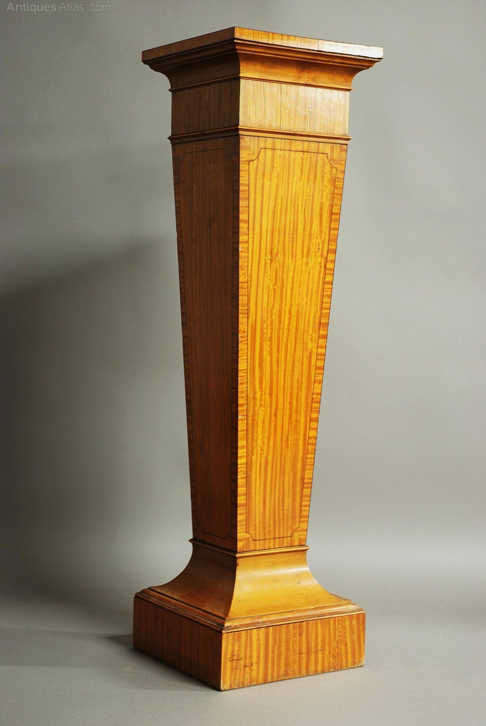 Best Decorative Satinwood Pedestal Of Tapered Form Antiques Atlas This Month
