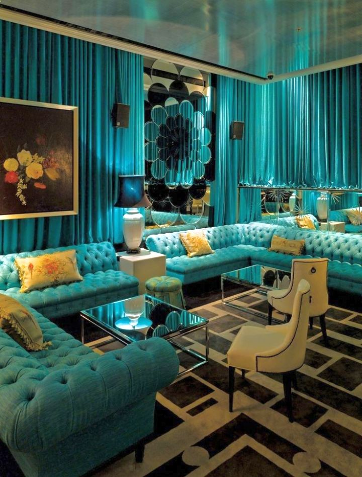 Best 17 Breathtaking Turquoise Living Room Ideas This Month