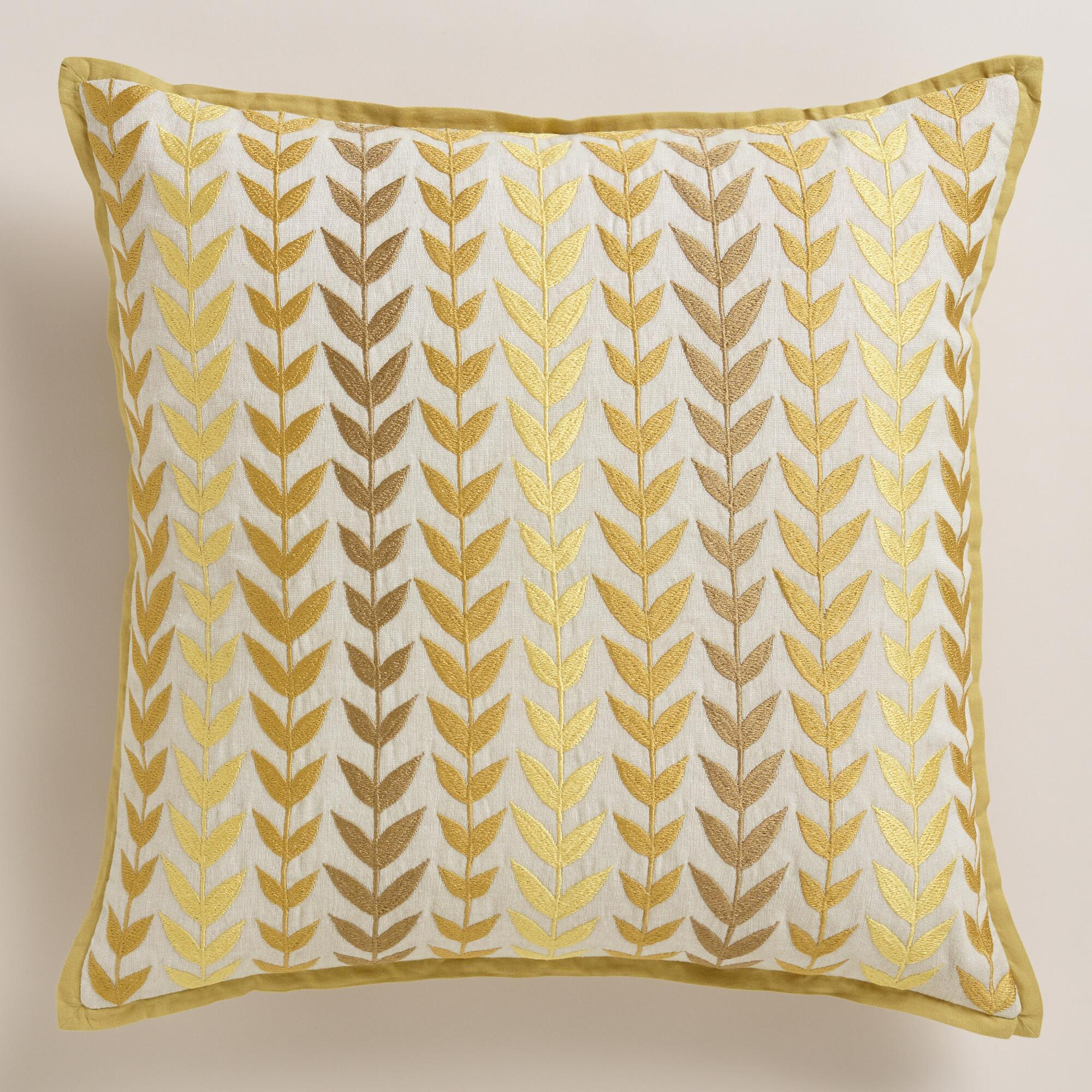 Best Yellow And Gray Geometric Throw Pillow World Market This Month