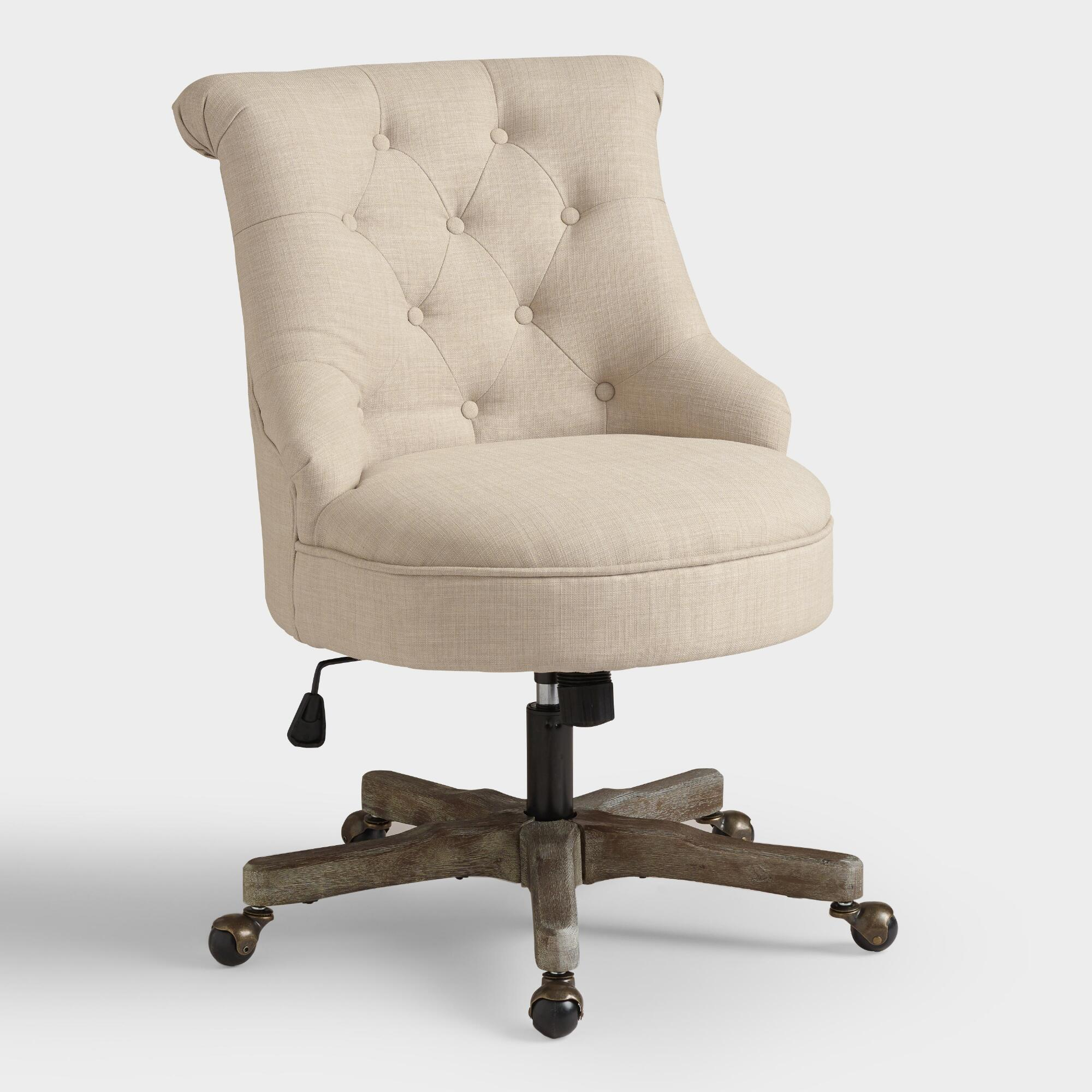 Best Natural Elsie Upholstered Office Chair World Market This Month