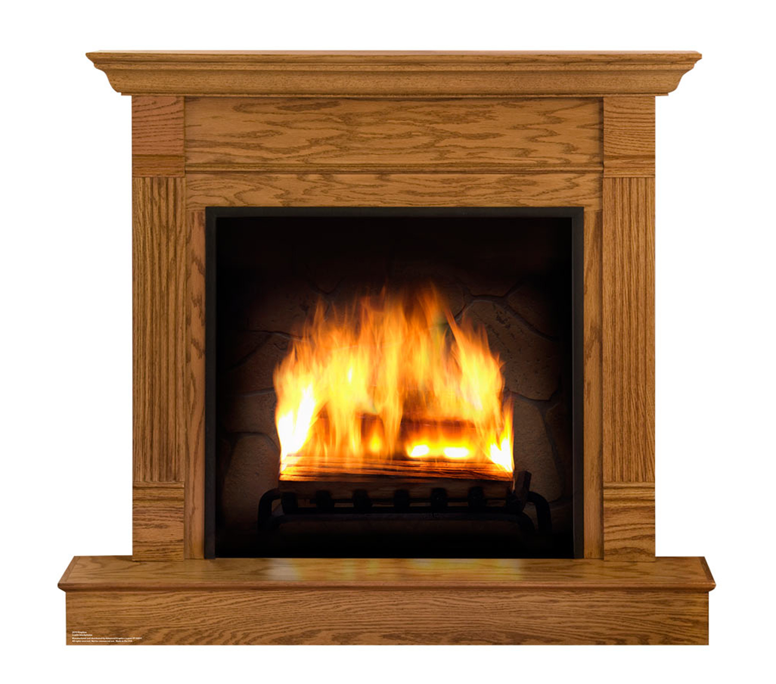 Best Fake Fireplace Life Size Cardboard Cutout Standup This Month
