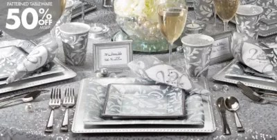 Best Silver 25Th Wedding Anniversary Party Supplies 25Th This Month