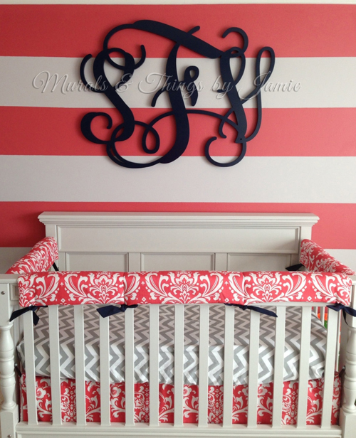 Best Monogram Wall Decor In The Nursery This Month