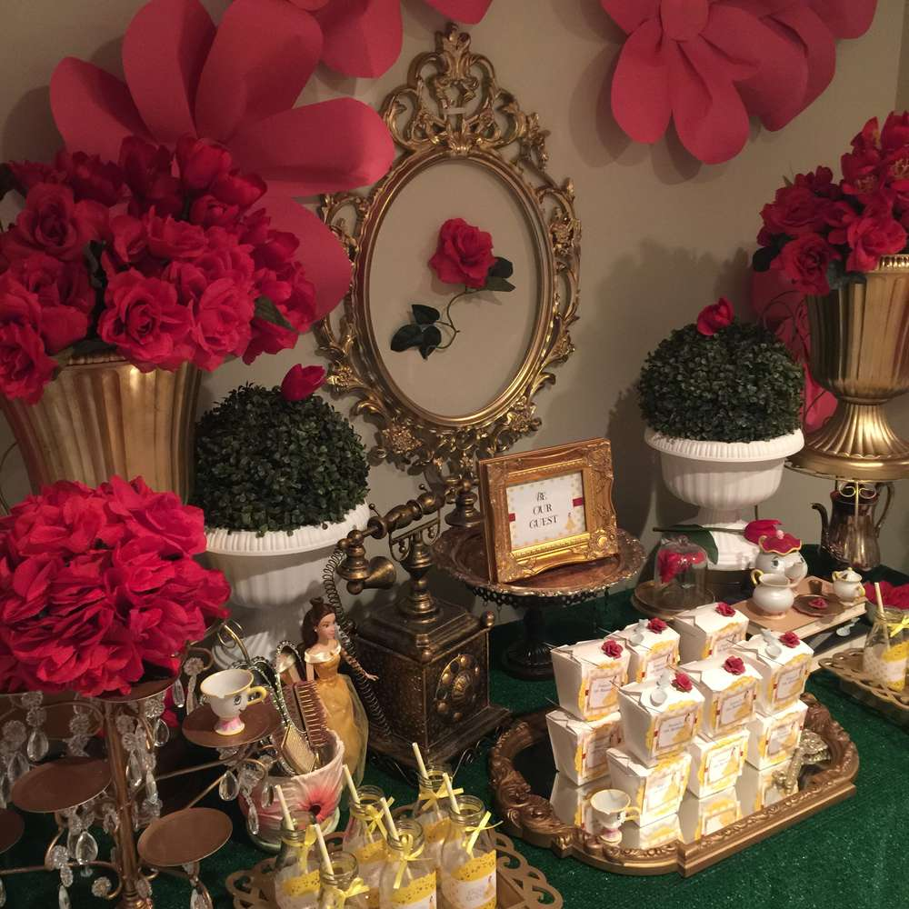 Best Belle Beauty And The Beast Birthday Party Ideas Photo This Month