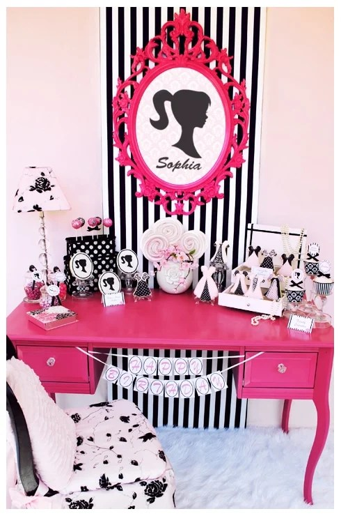 Best Vintage Barbie Inspired Birthday Party Pizzazzerie This Month