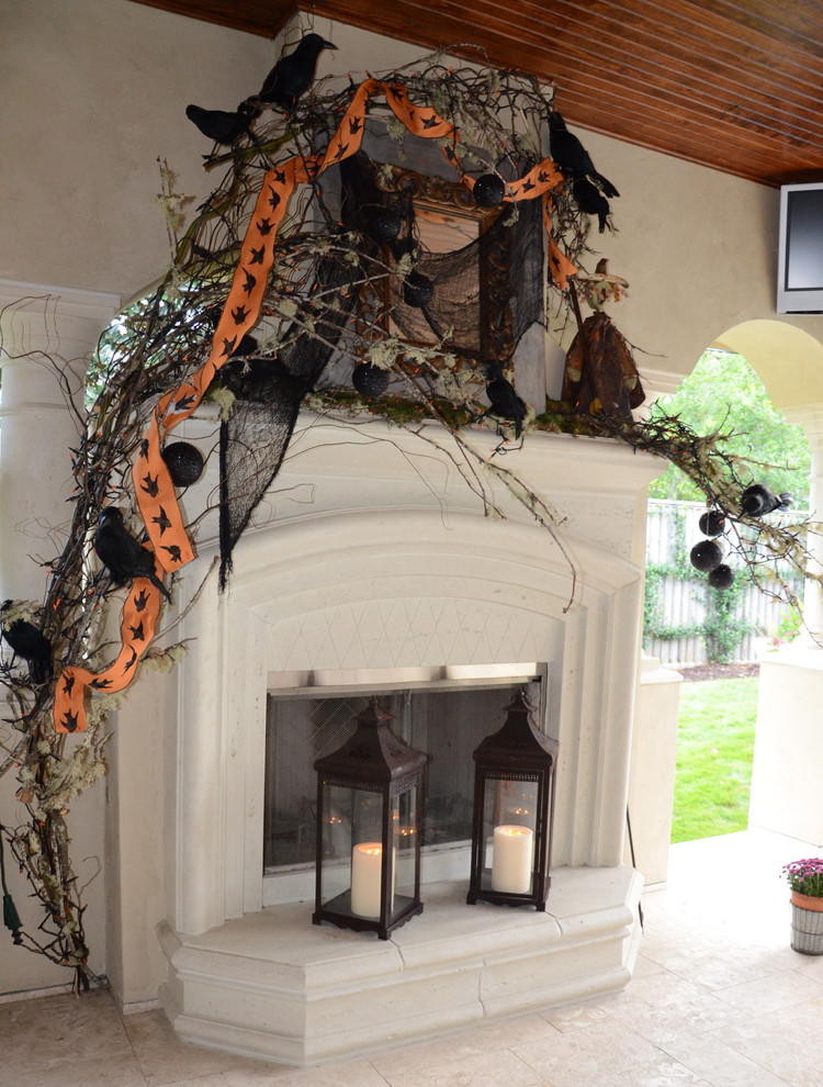 Best 23 Best Ideas For Halloween Decorations Fireplace And Mantel This Month